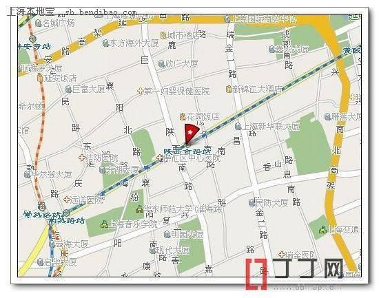 陕西到上海地图